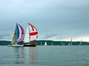 Sailboats on Commencement Bay